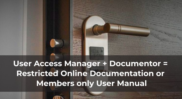 Restrict content online documentation and user manual