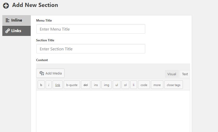 add section in DocumentorKB