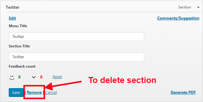delete section