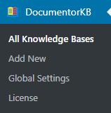 DocumentorKB dashboard