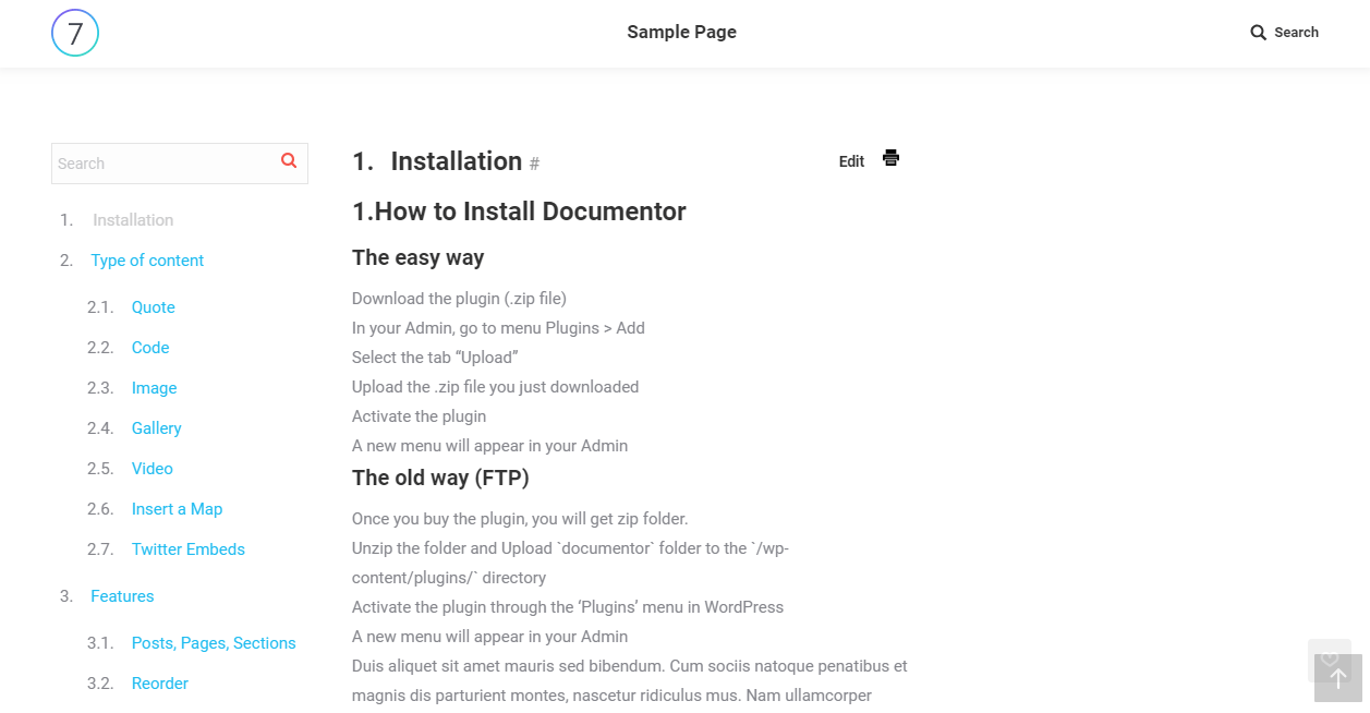 WordPress plugin to create a document