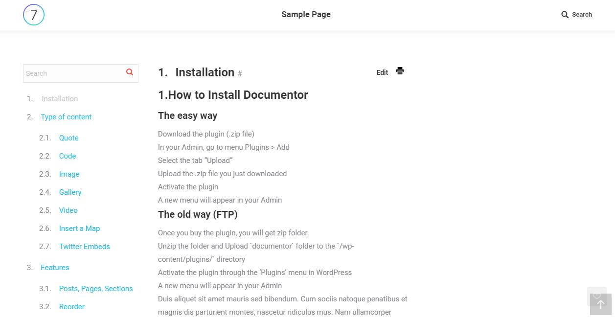 WordPress plugin to create a document